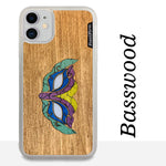 Load image into Gallery viewer, Masquerade Mask - Wood & Resin Case - White