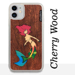 Load image into Gallery viewer, Mermaid - Wood & Resin Case - White