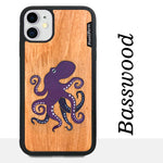 Load image into Gallery viewer, Octopus - Wood & Resin Case - Black