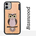 Load image into Gallery viewer, Owl - Wood & Resin Case - Black