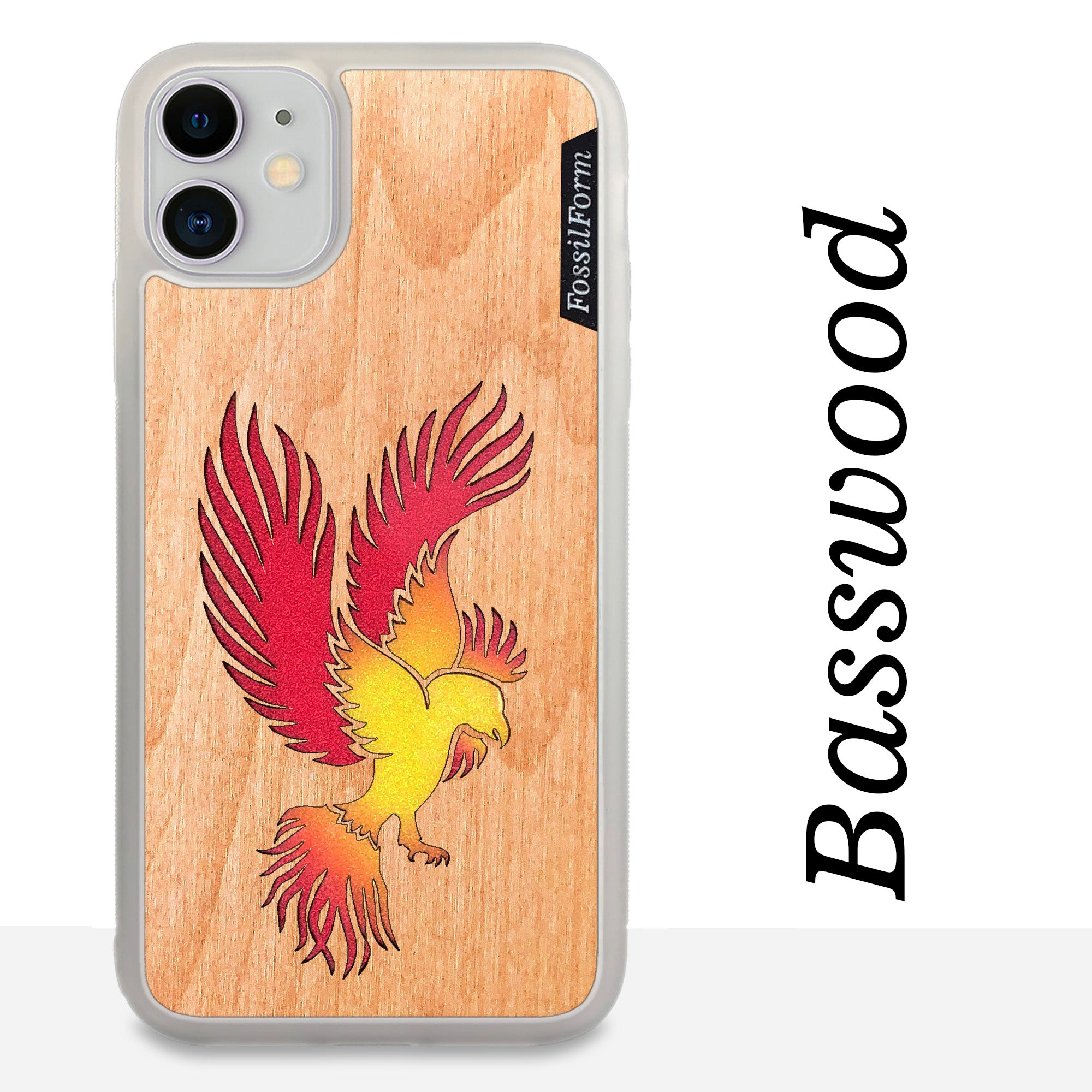 Phoenix - Wood & Resin Case - White