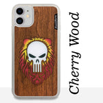 Load image into Gallery viewer, Punisher Skull with Mane - Wood & Resin Case - White