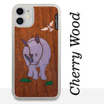 Load image into Gallery viewer, Rhinoceros - Wood & Resin Case - White