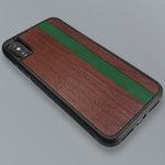 Load image into Gallery viewer, Green Stripe - Green Vertical Line - Wood & Resin Case - Black