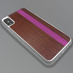 Load image into Gallery viewer, Pink Stripe - Pink Vertical Line - Wood & Resin Case - White