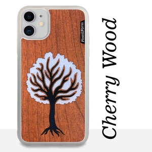 Black Tree - Wood & Resin Case - White