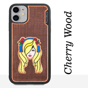 Music Girl - Engraved Wood & Resin Case - Black