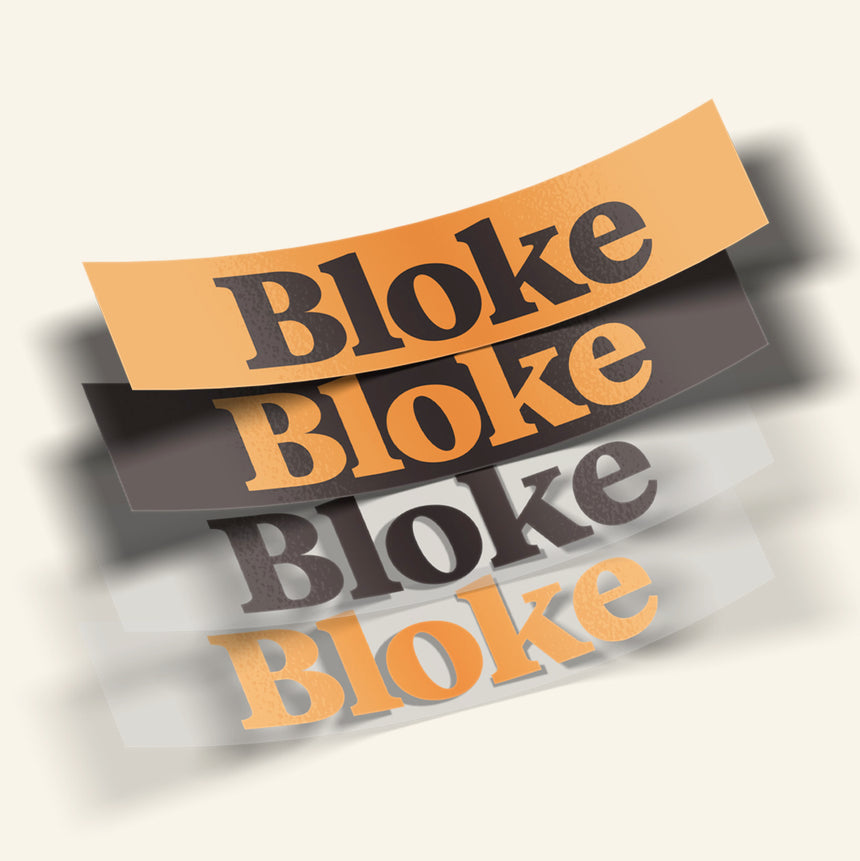 BLOKE BUMPER STICKER