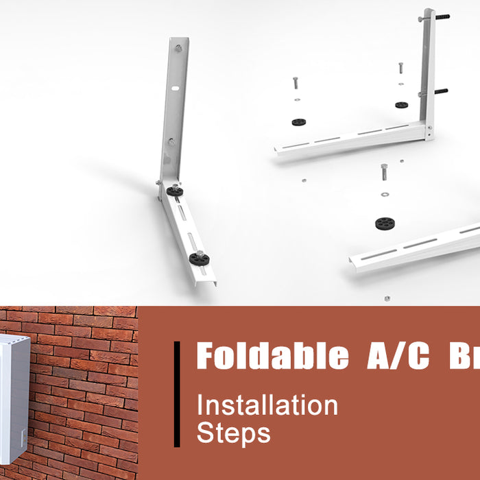 Install Wall Mounted Foldable A/C Bracket