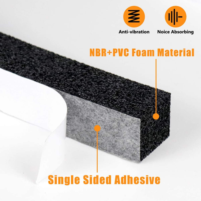 LBG Products Window Insulation Foam Strip with Adhesive Backing, 2x1 inch - LBGProducts