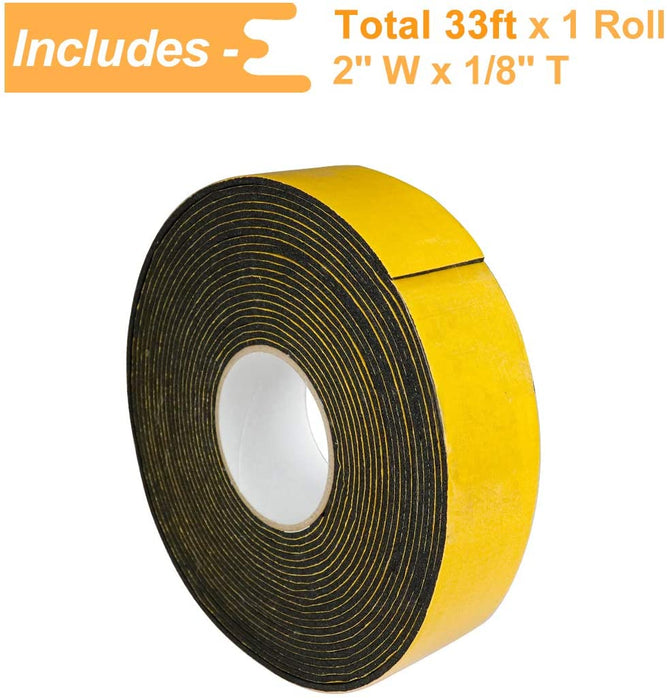 LBG Products High Density Adhesive Foam Tape, 2'' W x 1/8'' T x 33' L