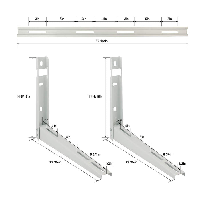 LBG Products Wall Mounting AC Bracket with Cross Bar, Supports 350lbs