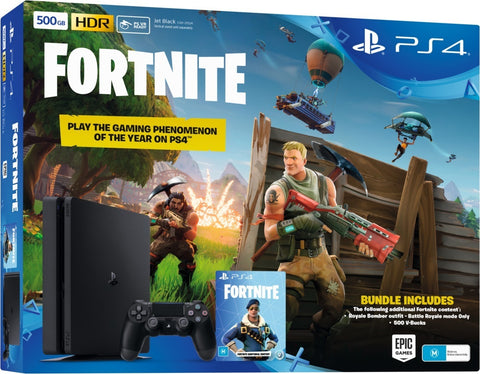 PS4 SLIM 500GB CONSOLE FORTNITE BUNDLE PACK