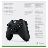 MICROSOFT XBOX ONE OFFICIAL WIRELESS CONTROLLER WITH BLUETOOTH - BLACK