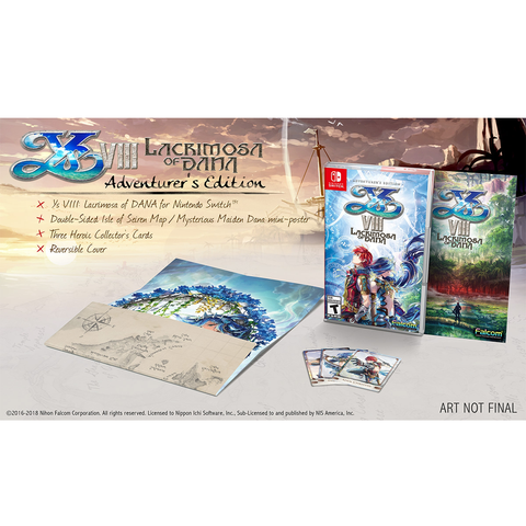 NINTENDO SWITCH YS VIII LACRIMOSA OF DANA ADVENTURER'S EDITION