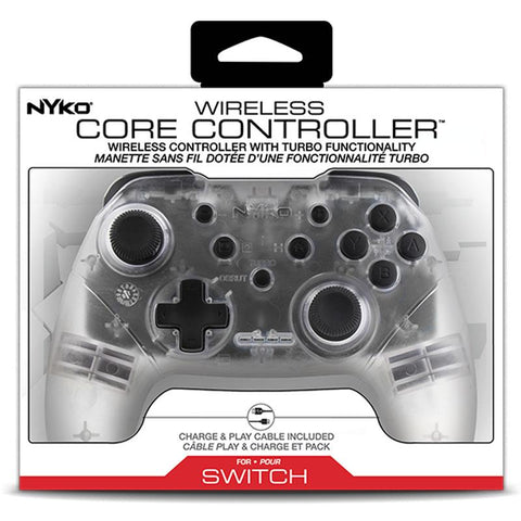 NYKO WIRELESS CORE CONTROLLER (CLEAR) FOR NINTENDO SWITCH