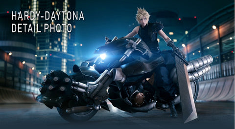 PS4 FINAL FANTASY VII REMAKE + PLAY ARTS Kai Cloud Strife & Hardy Daytona (Japan)