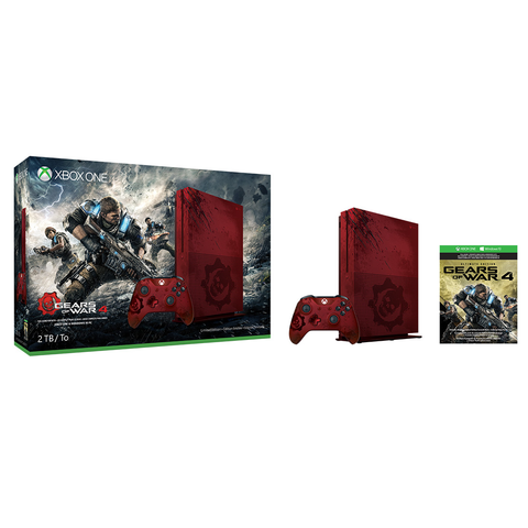 MICROSOFT XBOX ONE S CONSOLE 2TB GEARS OF WAR 4 LIMITED EDITION BUNDLE + EXTRA WIRELESS CONTROLLER