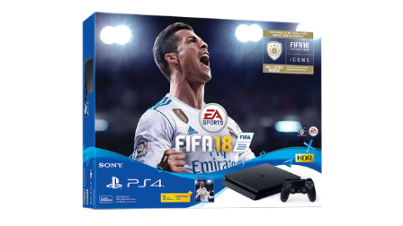 PS4 SLIM 500GB CONSOLE FIFA 18 BUNDLE PACK