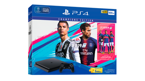 SONY PS4 SLIM 500GB CONSOLE FIFA 19 BUNDLE