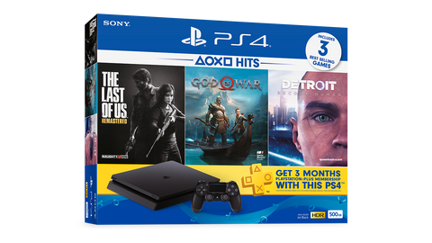 PS4 SLIM 500GB CONSOLE HITS BUNDLE 3