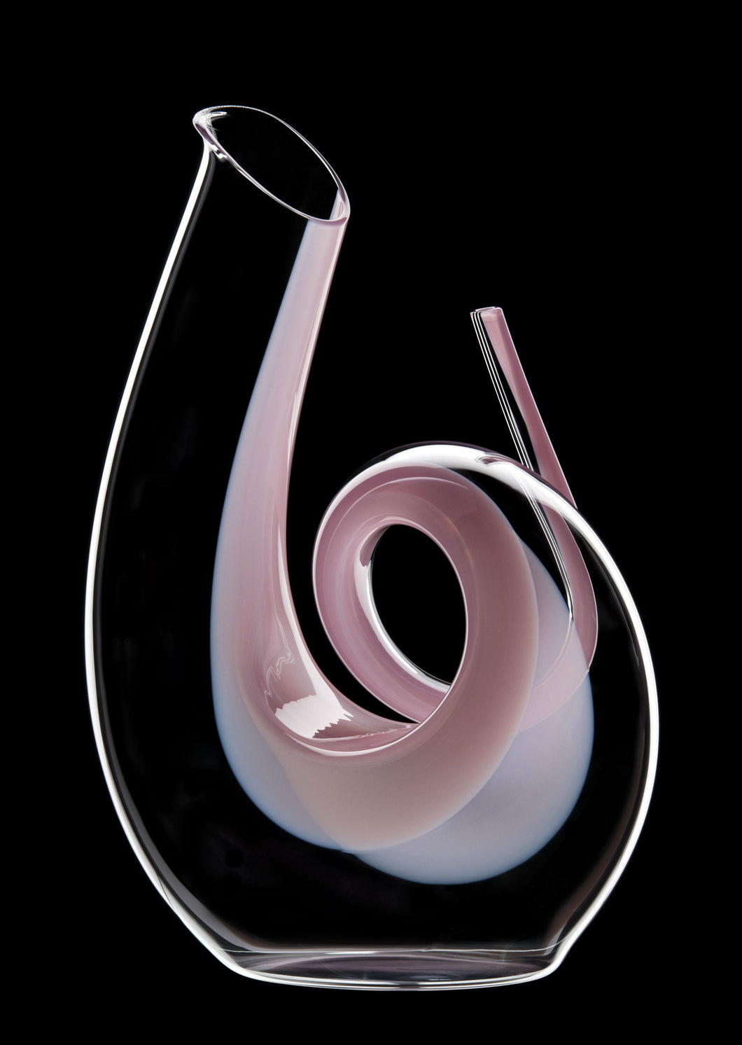 Riedel Curly Pink Decanter