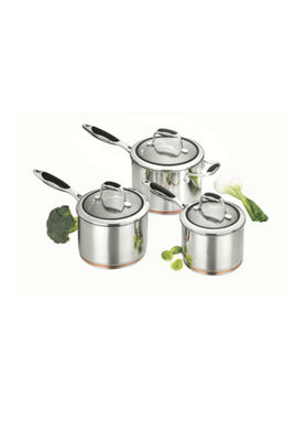 Scanpan Coppernox 3 Piece Saucepan Set