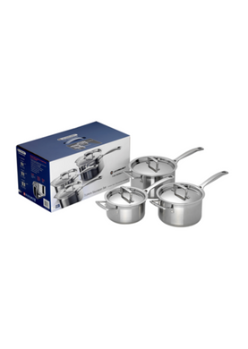 Le Creuset 3 ply Stainless Steel - 3 piece Saucepan Set