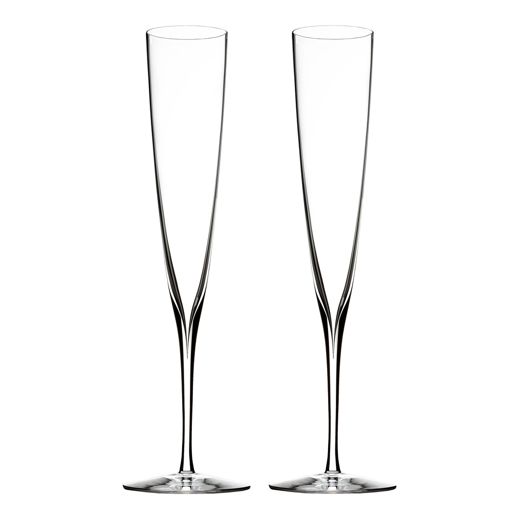 Waterford Elegance - Champagne Trumpet Flute Pair