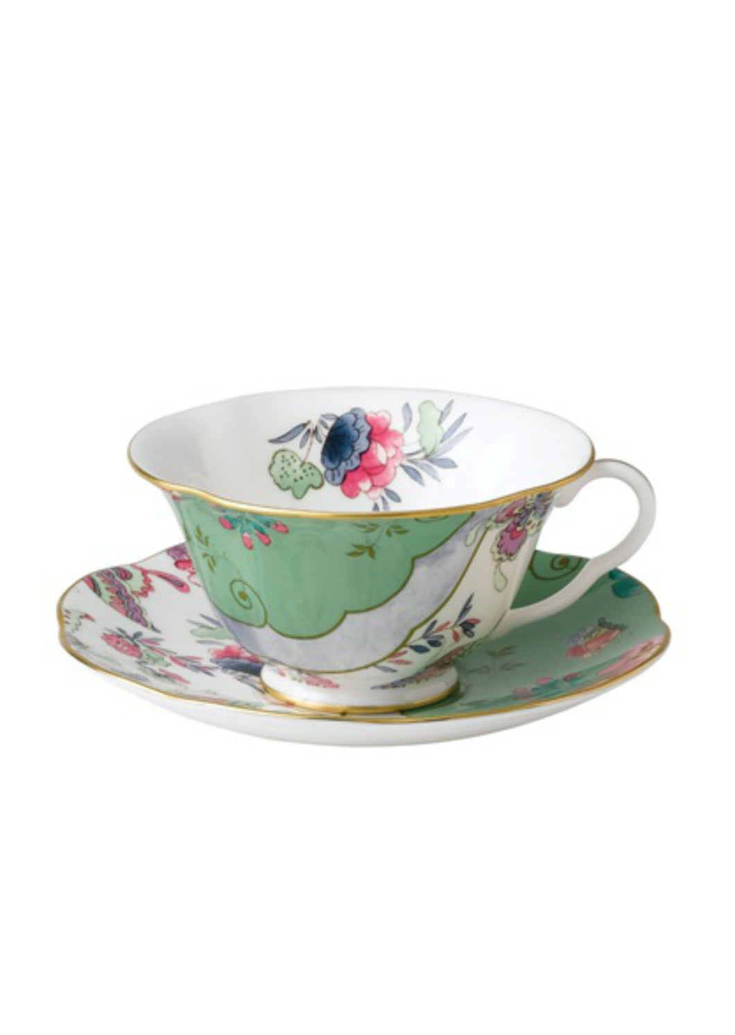 Wedgwood Butterfly Bloom Green Teacup and Saucer