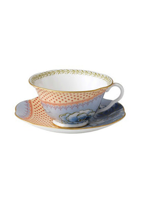 Wedgwood Butterfly Bloom Blue Teacup and Saucer