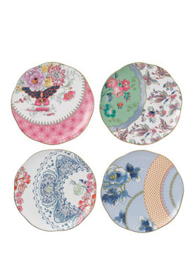 Wedgwood Butterfly Bloom Set 4 Plates 20cm