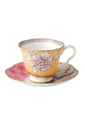 Wedgwood Butterfly Bloom Yellow Teacup and Saucer