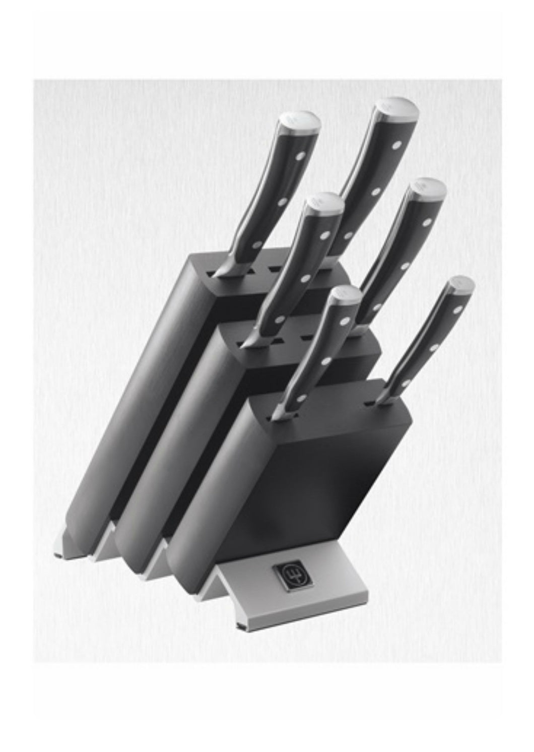 Wüsthof Ikon Black 6 Piece Knife Block Set