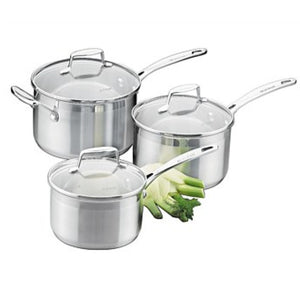 Scanpan Impact 3 Piece Saucepan Set
