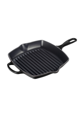 Contribute towards Le Creuset Cast Iron Signature Square Grillit - Satin Black 26cm