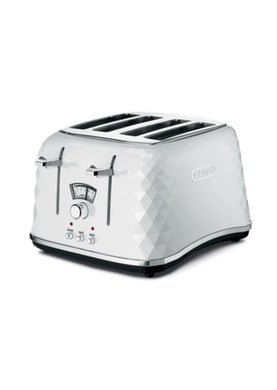 Delonghi Brillante 4 Slice Toaster - White