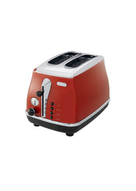Delonghi Icona 2 Slice Toaster - Red