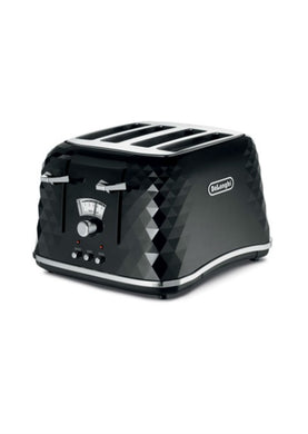 Delonghi Brillante 4 Slice Toaster - Black