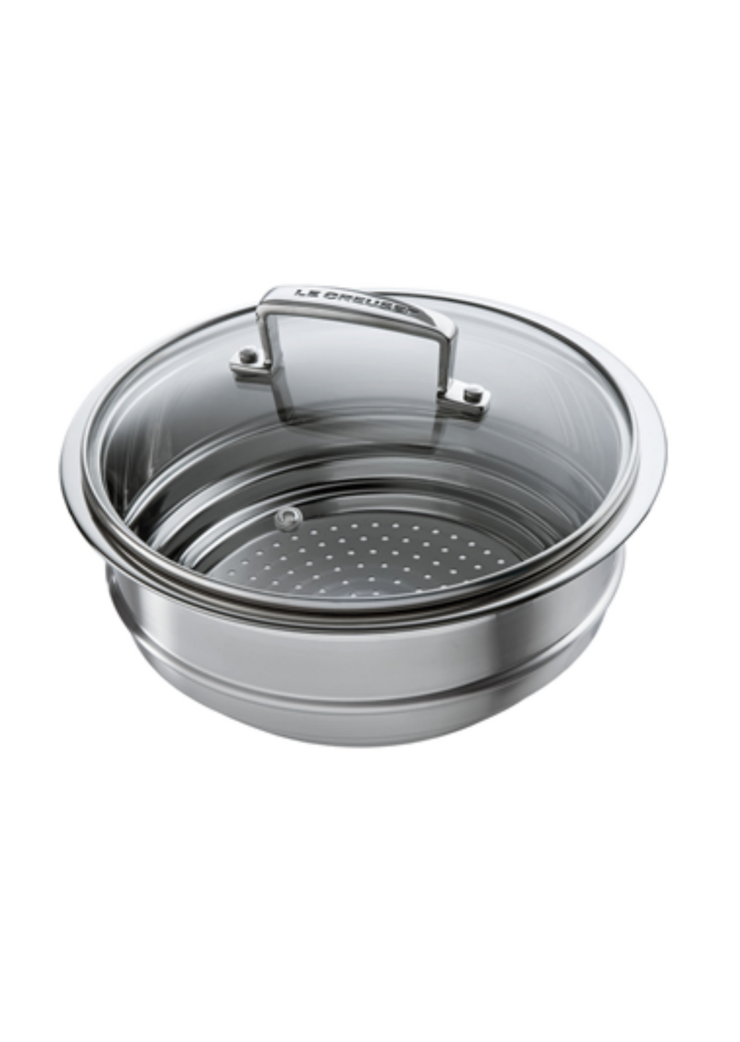 Le Creuset 3 ply Stainless Steel Multi Steamer with Glass Lid
