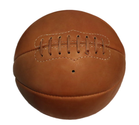 1890-1930 Antique Style Laced Leather Basketball