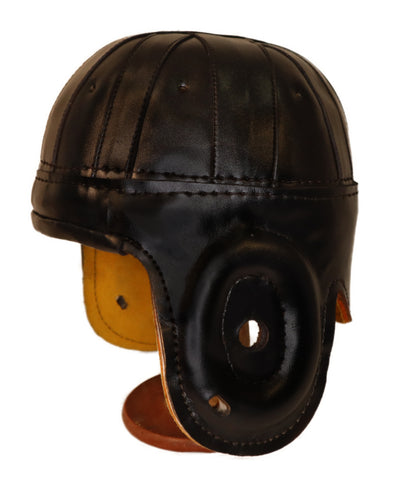 1940 Old Chicago / Tech Black Leather Helmet