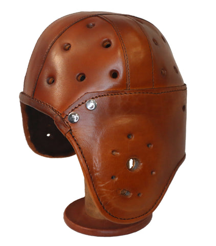 4 Straps Heisman Leather Football Helmet