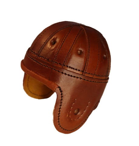 Brown Mini leather Football Helmet
