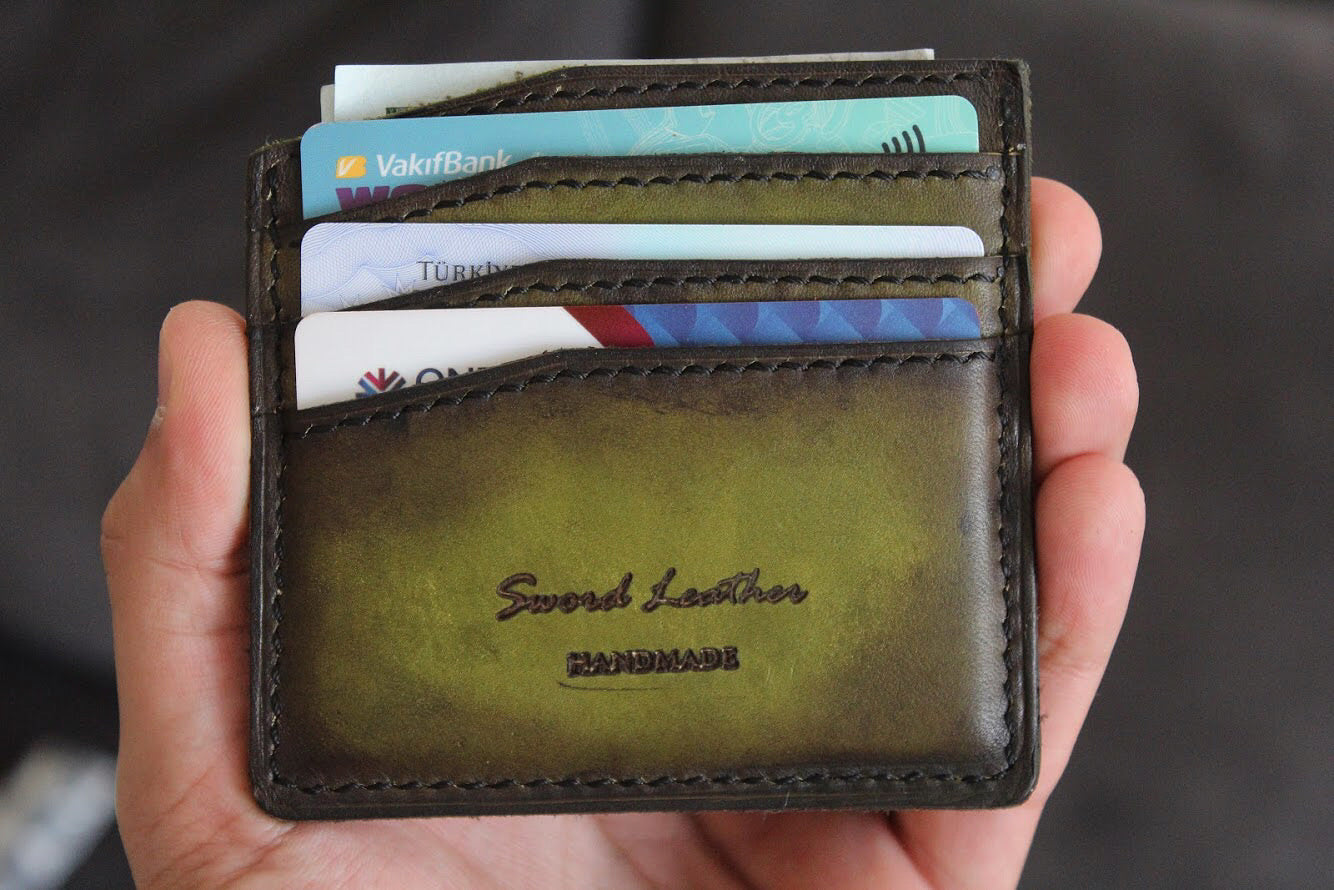 PATINA GREEN CARDHOLDER