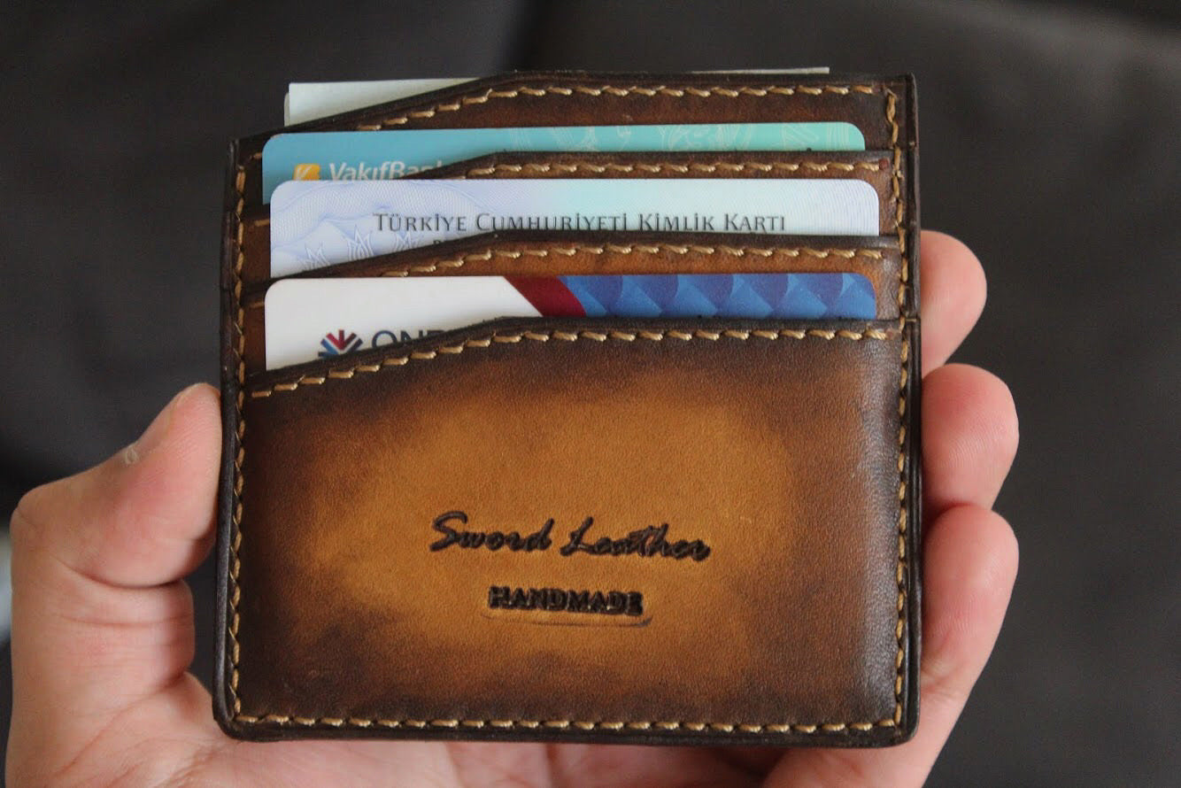 PATINA BROWN CARDHOLDER