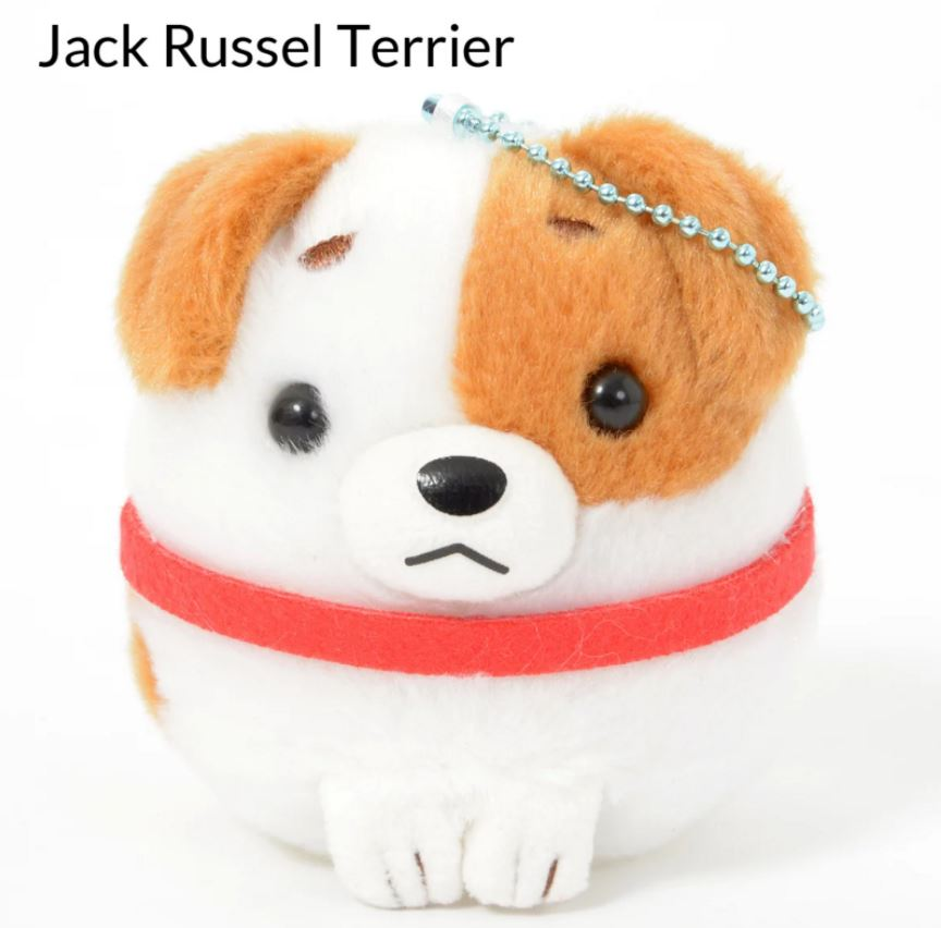 Amuse Wanko Tai Dog Ball Chain Plush
