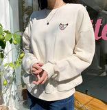 Embroidered Anime Sweatshirt