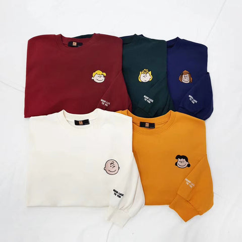 Embroidered Peanuts Sweatshirt