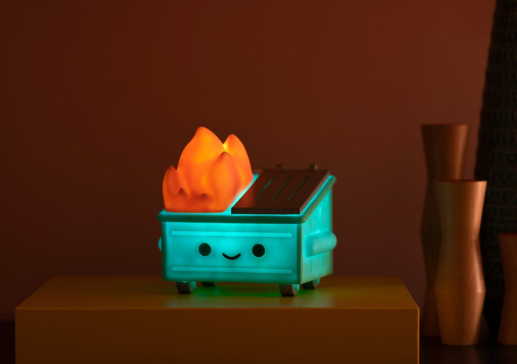 Dumpster Fire Night Light by 100% soft